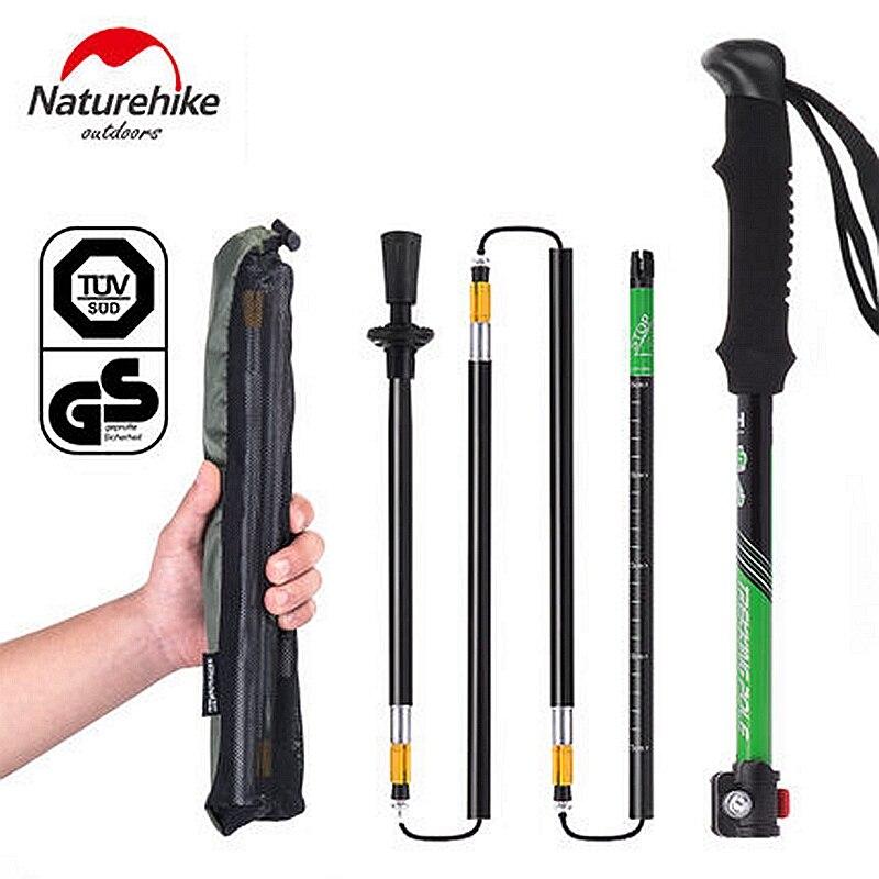Naturetrekking 2 pièces/paire bâtons de marche nordique bâton de randonnée ultraléger bâton de marche pliant Trekking canne d'escalade NH15A023-Z