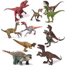Jurassic World Park Dinosauro Giocattolo di plastica Modello Therizinosaurus Pterosauria Velociraptor PVC Collezione Bambola Animale per il regalo dei bambini