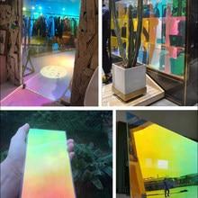 40/50/60X400 Cm Rainbow Decoratieve Een Manier Spiegel Venster Film, zelfklevende Glare Warmte Controle Reflecterende Solar Tint Film