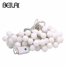 DC 5V USB LED String Lights 10M 60LED Globe Ball Holiday Fairy Lights for Christmas Wedding Party Garland Decotation(China)