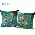 birds cushion Home Car decorative pillows butterfly  almofada /coussin / linen Cojines decoration CH5D04
