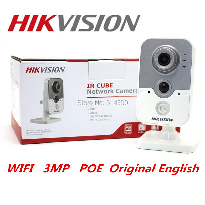 Hikvision DS-2CD2432F-IW 3MP POE IP Camera CCTV Camera Microphone Audio Hikvision Security Camera WiFI Camera team up 2 3 test resource audio cd
