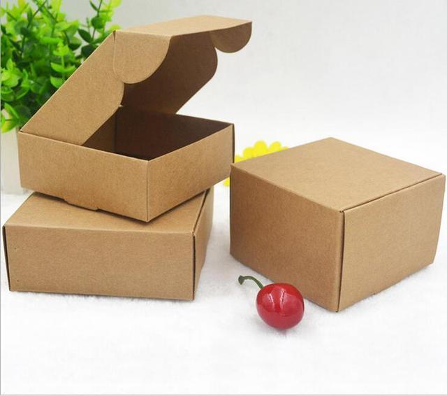 Bien-aimé 2017 Naturel Kraft papier cadeau emballage boîte, petit artisanat  ZT48