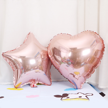 5pcs 18-inch rose gold heart-shaped aluminum film balloon wedding party decoration  gift