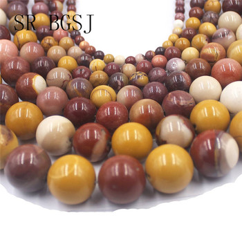 edfff55af11f Envío gratis de 4mm-16mm Mookaite Jaspers gemas suelto Natural piedra  redonda granos DIY perlas cadena 15