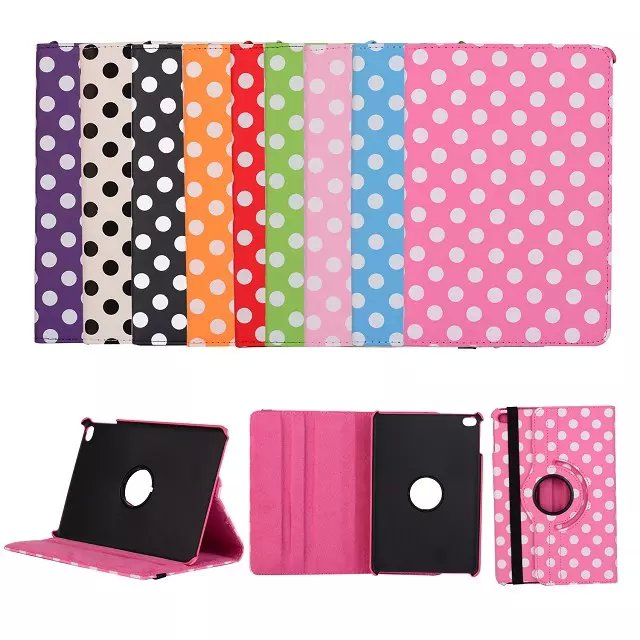 OST Luxury Print Polka Dot 360 Rotation PU Leather case for Apple iPad mini 4 mini4 Tablet Smart cover flip Cases with stand