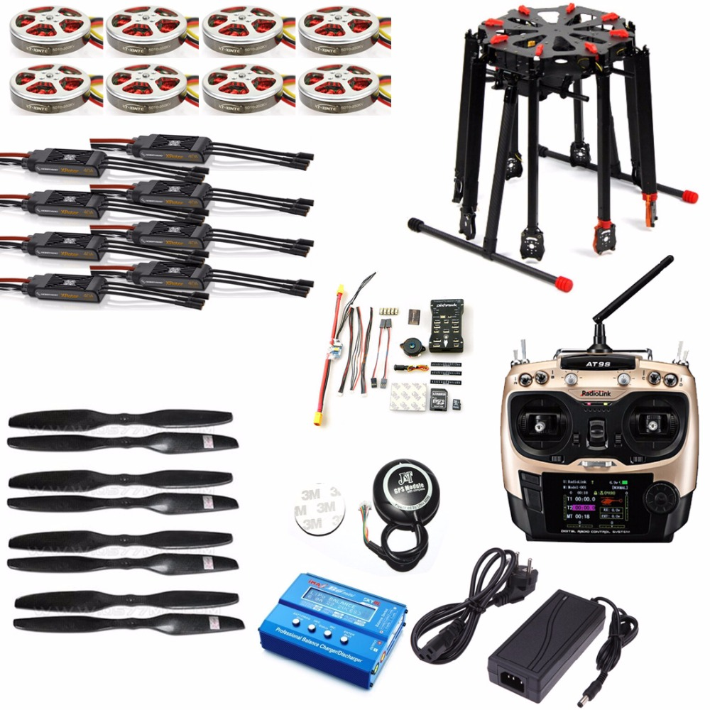 JMT DIY GPS Drone Tarot X8 TL8X000 8-Axle Folding Frame 350KV 40A PX4 32 Bits Flight Controller Radiolink AT9S Transmitter f15441 c apm2 8 flight control with compass 6m gps power distribution board gps folding antenna 5 8g 250mw tx for diy drone
