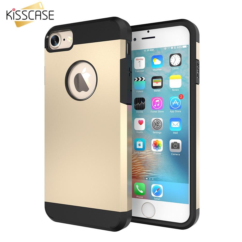 KISSCASE 4s 5s Hard Armor Case TPU+PC Hybrid Tough Cover For Apple iPhone 5 5s SE 4 4S Slim Capa Silica Gel Shell
