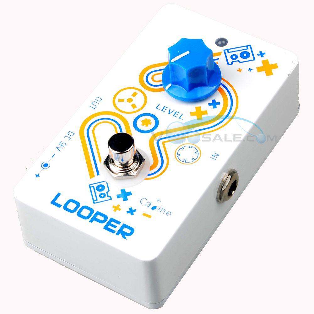 Caline CP-33 Looper Guitar Effect Pedal White Color High Quality Recording And Playback Guitar Pedals Accessories caline cp 15 heavy metal guitar pedals 3 band powerful adjustable electronic heavy metal guitar effect pedal