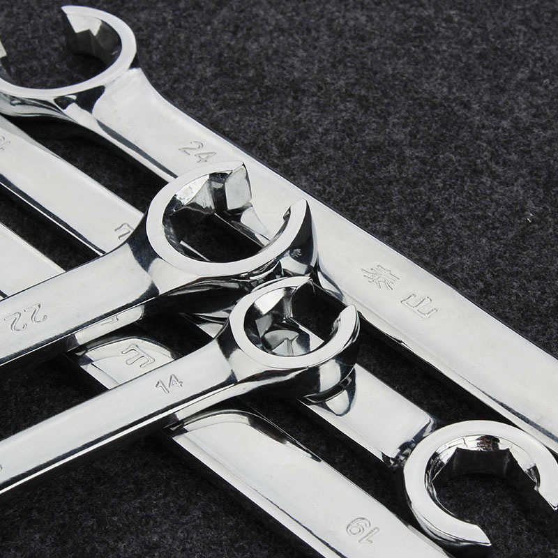 Flare Nut Spanner เบรคประแจสำหรับรถซ่อมเครื่องมือ Crow'S ฟุต Spanner ชุด