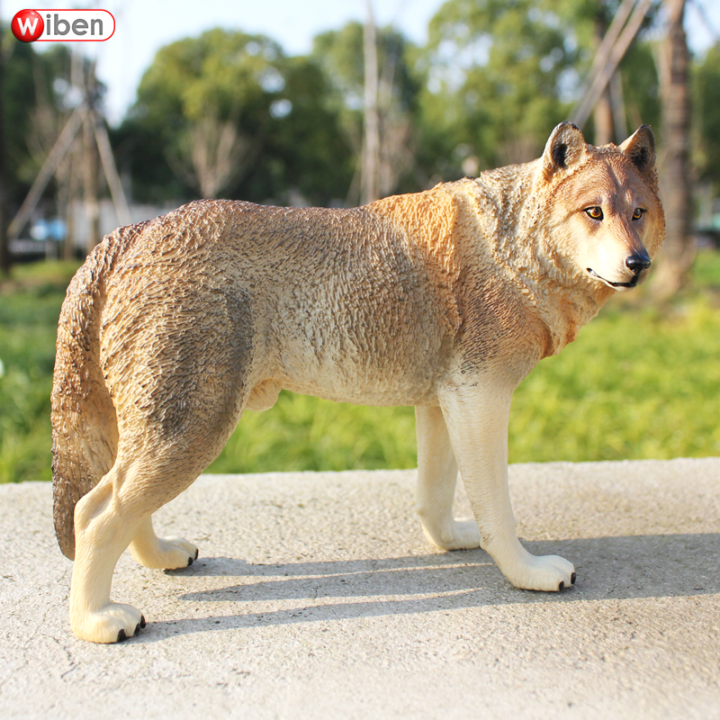 Wiben Big Wolf High Quality Simulation Animal Model Action & Toy Figures Educational for Children Gift recur toys high quality horse model high simulation pvc toy hand painted animal action figures soft animal toy gift for kids