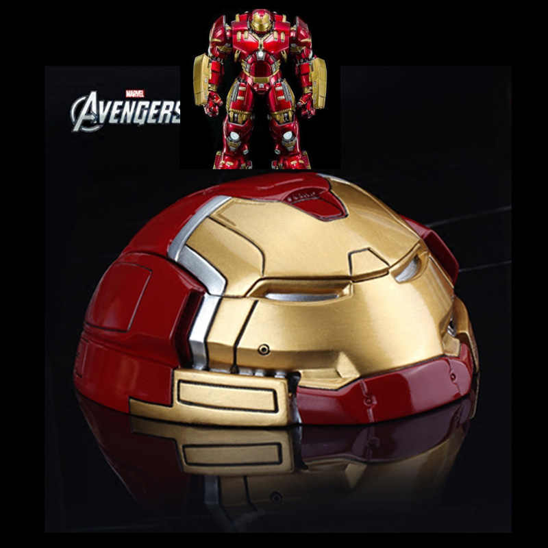 Grande Formato Hulkbuster Holder Posacenere Iron Man Testa In Resina Action Figure Sigarette Box Per Home Office Hotel Scrivania Decoraction Regalo