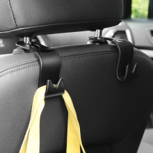 Universal Car Headrest Back Seat Hook 4pcs Seat Hanger Vehicle Organizer Holder for Handbags Purses Coats and Grocery Bag(China)