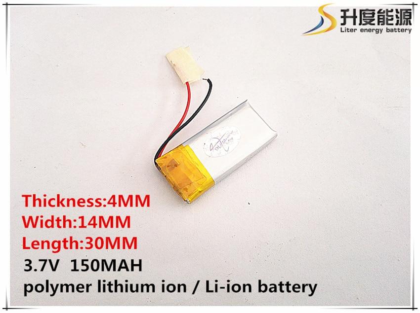 3.7V,150mAH,[401430] PLIB; polymer lithium ion / Li-ion battery for GPS,mp3,mp4,mp5,dvd,bluetooth,model toy