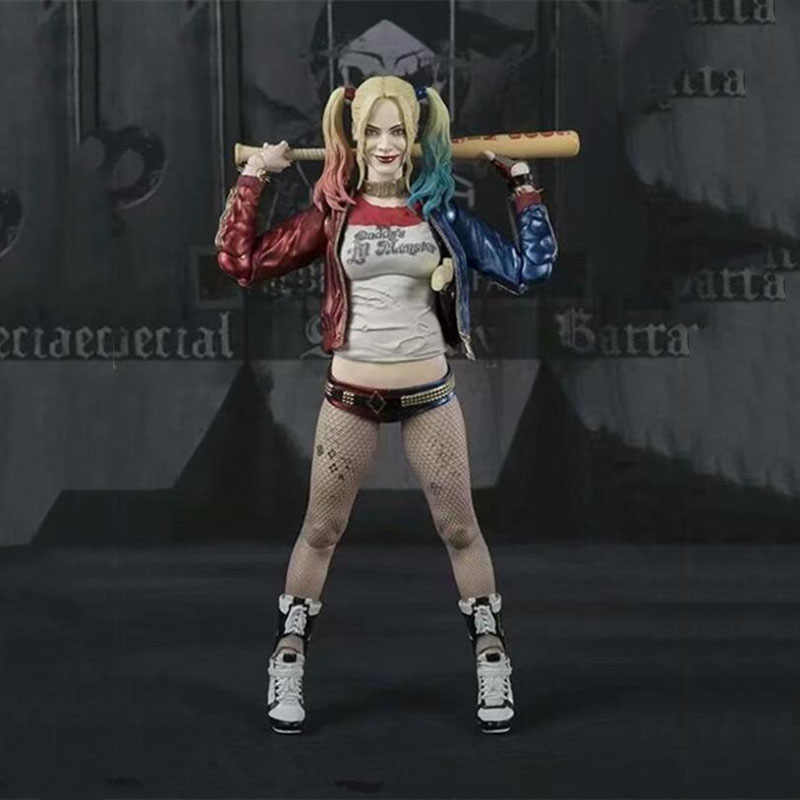NOVA 7' DC Harley Quinn Figura Estatueta Anime Figuras Esquadrão de Ferro Escala Collectible Toy Movie Game Brinquedos Bonecas Modelo Suicídio