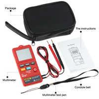 Pantalla LCD Digital AN302, multímetro de 8000 contadores, probador de voltaje, botón pulsador, tipo de tarjeta para electricistas, herramienta de prueba diaria