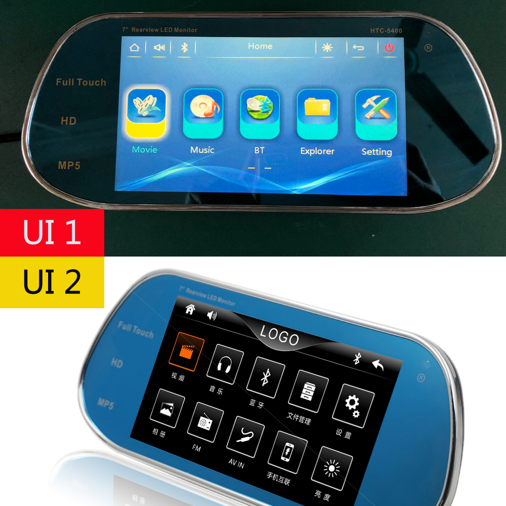 Image 4 - New Model Touch Screen with Remote Control 7inch Rearview  MP5 Mirror Monitor Bluetooth Support 1080P Movie For reversing camera-in Car Monitors from Automobiles & Motorcycles