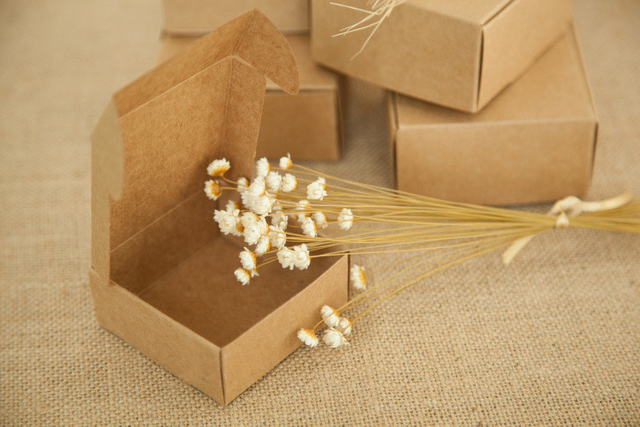 Us 219 62 21 Off 1000pcs 7 7 3cm Brown Kraft Paper Box For Candy Food Wedding Jewelry Gift Box Packaging Display Boxes Diy Necklace Rings Storage In