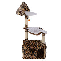 M45 47 Stable Cute Sisal Cat Climb Holder Cat Tree House Tower Hanging Ball Kitten Wood Furniture Scratch Cat Condos
