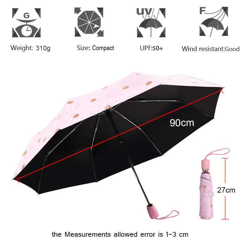 Double Layer Inverted Inverted Umbrella Is Light And Sturdy Mermaid Pattern 1 Reverse Umbrella And Windproof Umbrella Edge Night Reflection
