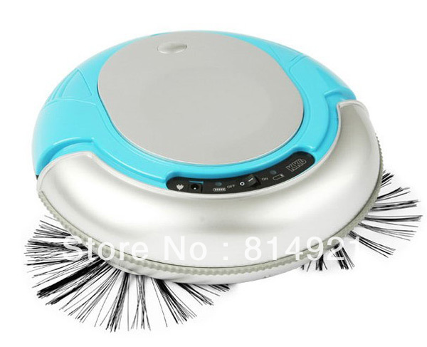 3 In 1 Multifunctional Mini Robot vacuum cleaner(, Auto Sterilizing,Air Flavoring) ,strong vacuum,new design,Blue color