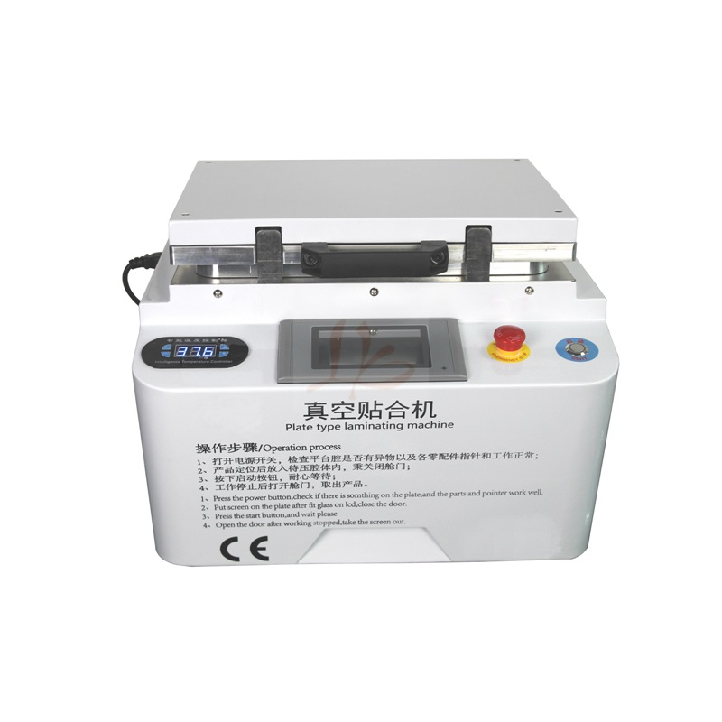 Auto air lock LY 888A+ soft hard airbag type touch screen OCA vacuum laminator Max 12 inches combined laminating and defoaming