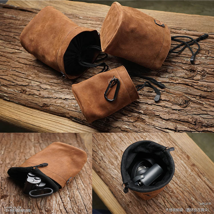 Newest Mr.stone Handmade Genuine Leather Camera Case Bag For FUJI Fujifilm Sony Leica Panasonic Nikon Canon Samsung