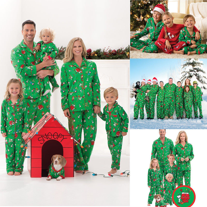 Plus Size S-XXL Father Mother Kids Christmas Family Matching