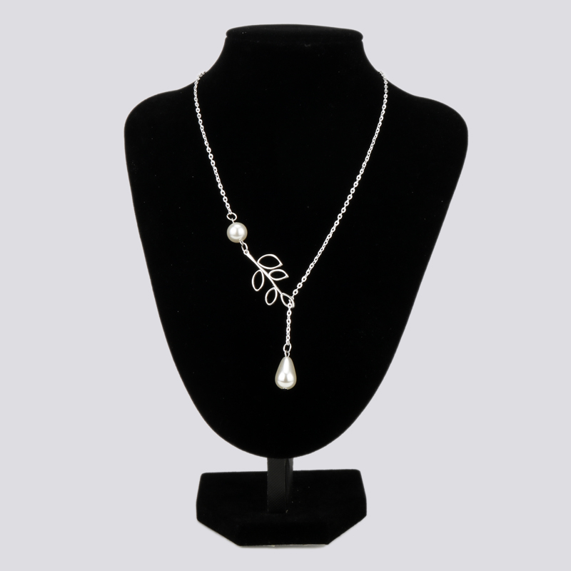 Design Brand Crystal Rhinestone Adjustable Chain Choker Necklace Women Charm <font><b>Leaf</b></font> Beads Triangle Clavicle Jewelry Accessories