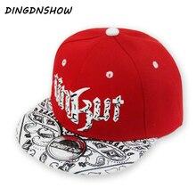 Новая бейсболка Snapbacks шляпа детский акриловый хип-хоп кепка с буквами UNKUT плоская кепка для мальчиков и девочек