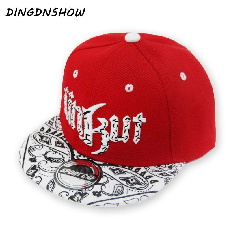 [DINGDNSHOW] 2019 New Baseball Cap Snapbacks Hat Children Acrylic Hip Hop Cap Letters UNKUT Flat Cap for Boy and Girl