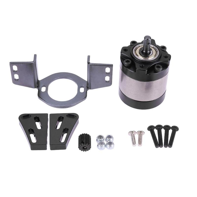 1Set 1/10 RC Crawler Car Transmission Stainless Steel Gear Box 1/5 Planetary Gearbox With Motor Gear Spare Accessories free shipping henglong original accessories 1 16 rc tank general steel drive gear box steel gear 3869 79 88 99 a 1