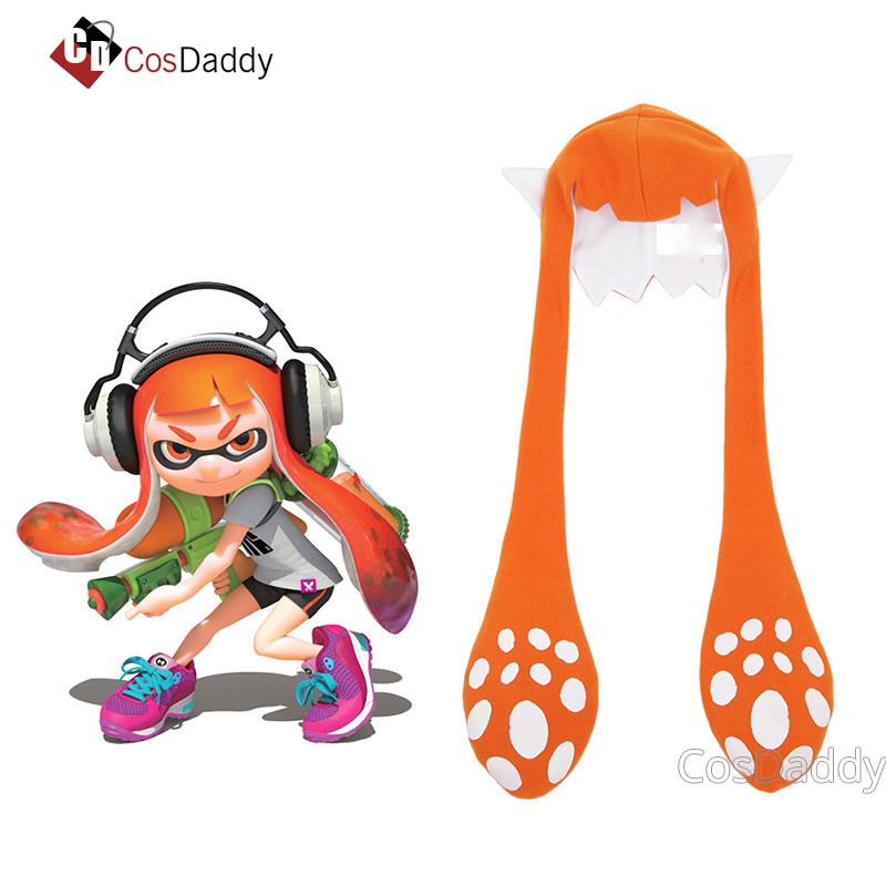 Splatoon 2 Inkling Squid Cosplay Hat Party Balaclava Funny Carniva Halloween Costumes Accessories Gift for Adult CosDaddy