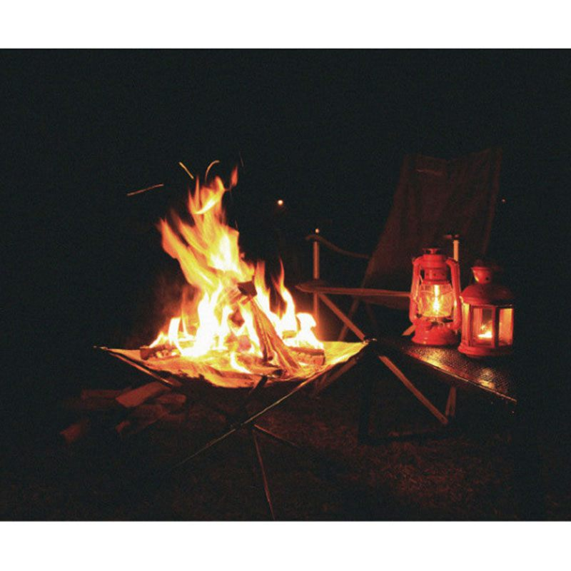 Портативная открытая пожарная яма: сворачивающийся стальной сетчатый камин-идеально подходит для кемпинга, двора и сада-сумка для переноски в комплекте