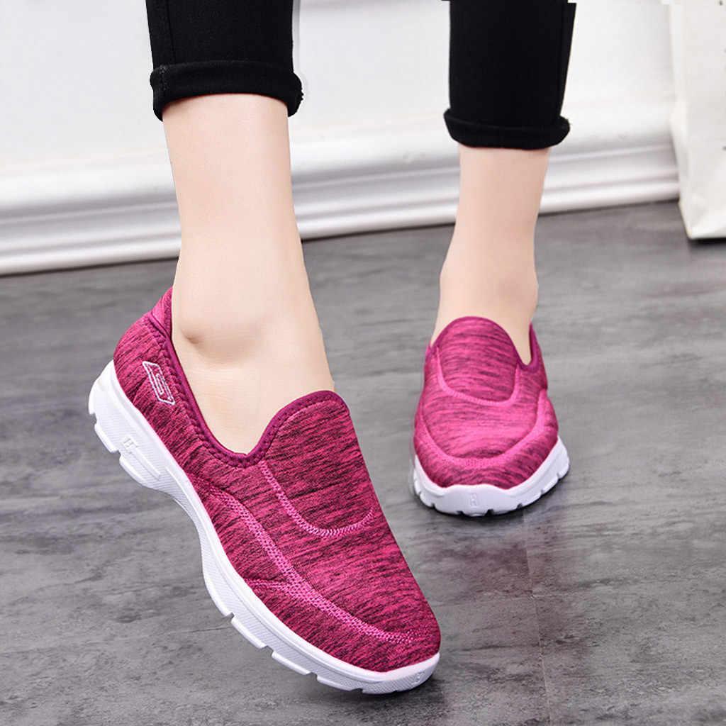 女性メッシュ通気性の靴カジュアル快適な底屋外 Zapatos deportivos デ mujer # g4