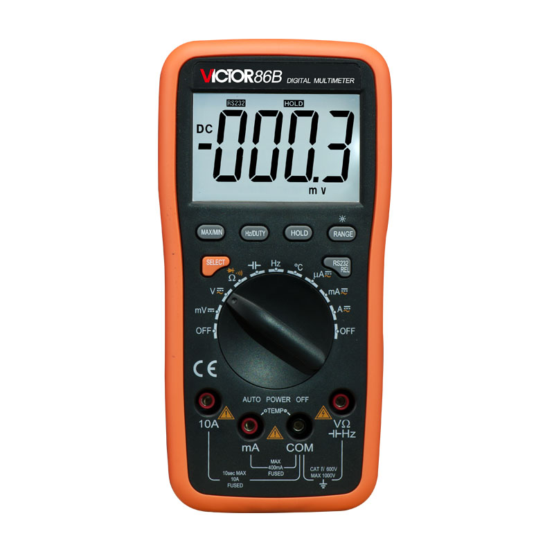 LCD display VICTOR 86B 3 3/4 Digital Multimeter DMM digital multipurpose meter handheld large screen multimeter lcd display accurate detection digital multimeter victor 88b