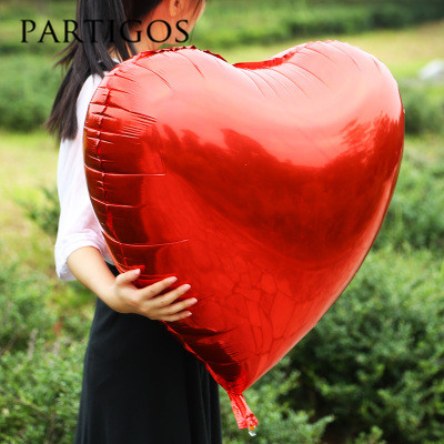 75cm Large Heart Foil Balloons Aluminum Inflatable Valentine's Day Balloon Wedding Birthday ...