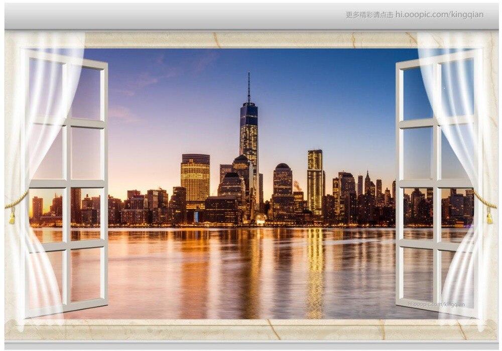 Online get cheap soundproofing window for New york 3d wallpaper