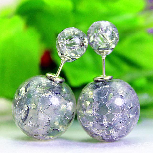 Pearl stud  opal beads earrings