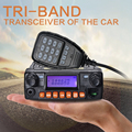 Zastone MP320 20W Powerful Mobile Radio Tri Band Car Radio VHF UHF 136-174/400-480MHZ 240-260MHz Car Walkie Talkie
