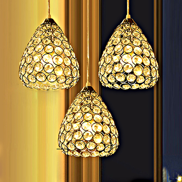 Restaurant pendant lamp modern crystal dining room bar hanging lamp individual clothing store decorations 1/3 heads lamps  ZAG personalized clothing store track lamp