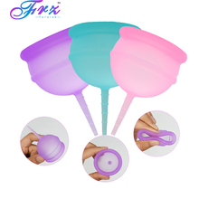 Silicone Menstrual cup 100% Medical Grade silicone Cup copa menstrual Feminine hygiene reusable Lady On promation