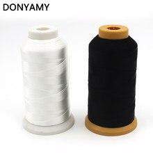 DONYAMY – fil à coudre en nylon blanc brillant de haute ténacité, 1400 yards, 210D, adapté à la toile, au denim, aux rideaux, aux chaussures, etc.