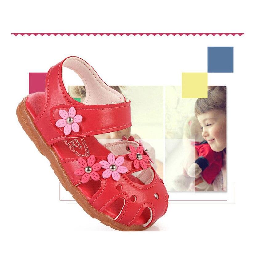 Sandalia Infantil 2016 Summer Zapatos Nina Floral Girls Sandały - Buty dziecięce - Zdjęcie 4