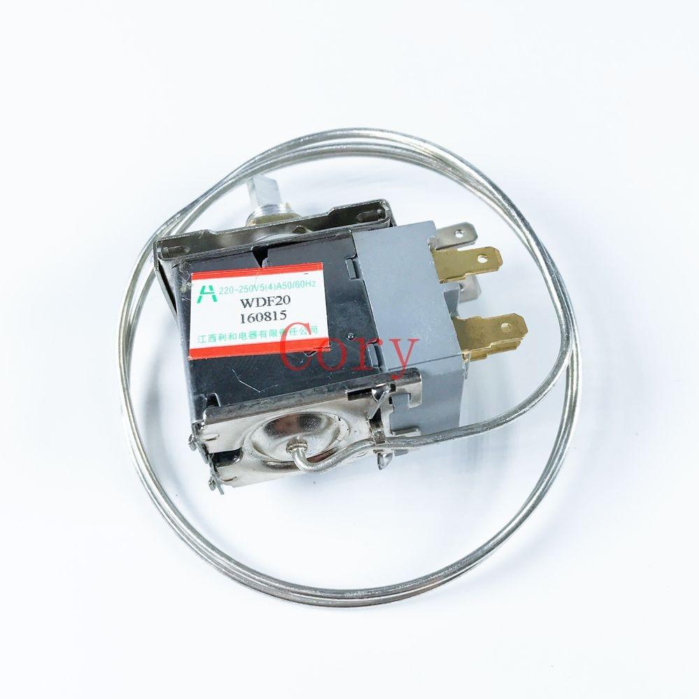 AC 220-250V Volt 5A 3 Pin Refrigerator Temperature Control Thermostat 250v 20a 3 pin terminals temperature control switch capillary thermostat part