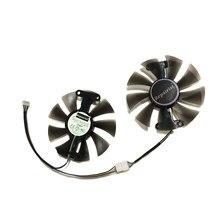 2 pçs/set GeForce GTX 950 960 1050 1060 GA91S2H GPU Refrigerador de Ventoinha de Refrigeração Para ZOTAC GTX1050Ti X-Gaming GTX760 2GD5 HB Cartões de Refrigeração