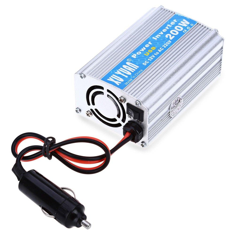 Prix pour Vente chaude 200 W DC 12 V à AC 220 V Puissance De la Voiture Onduleur avec USB Port de Charge Pour Portable stéréos