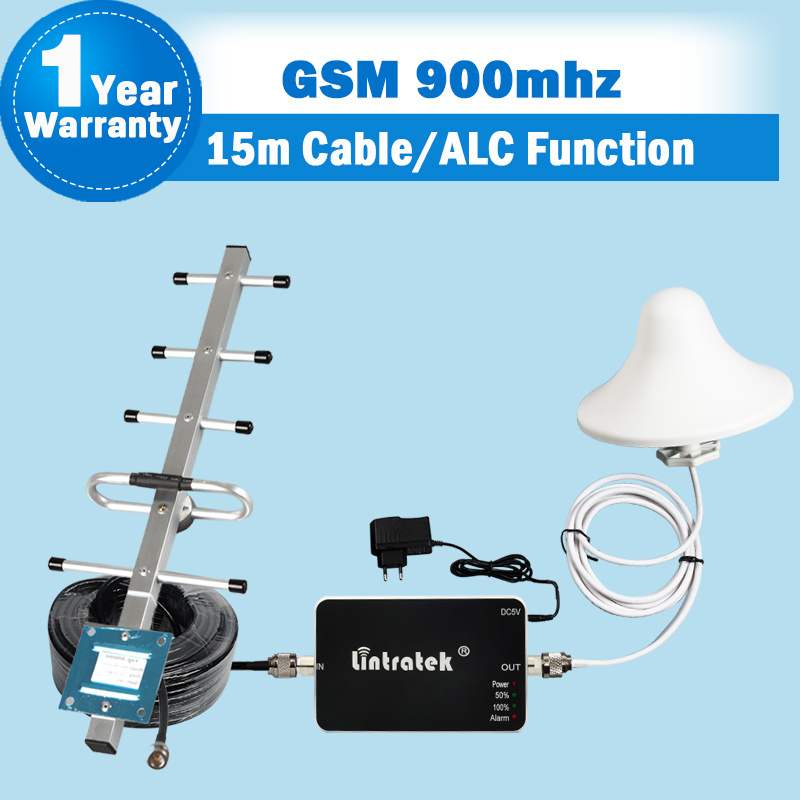 Complete Set GSM 900 Cell Phone Signal Booster ALC Function 900mhz Network Mobile Repeater 70dB Gain Cellular Amplifier For Home