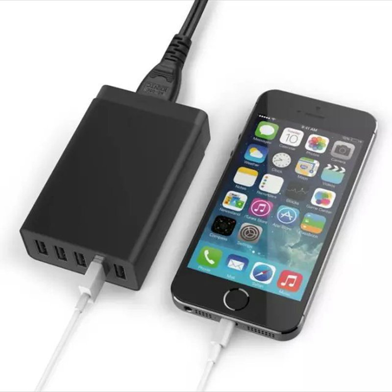 Universal EU/US Plug Travel Home Wall 5 USB <font><b>Charger</b></font> Adapter Hubs Smart Mobile <font><b>Phones</b></font> Fast Charging 1.6M For iPhone For Samsung