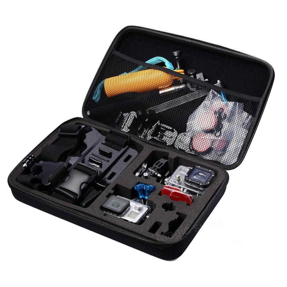 Bolsa grande para GoPro accesorios de gran EVA Colección Caja para ir pro Hero 5 4 3 SJCAM SJ4000 EKEN H9 Xiaomi Yi acción de la cámara